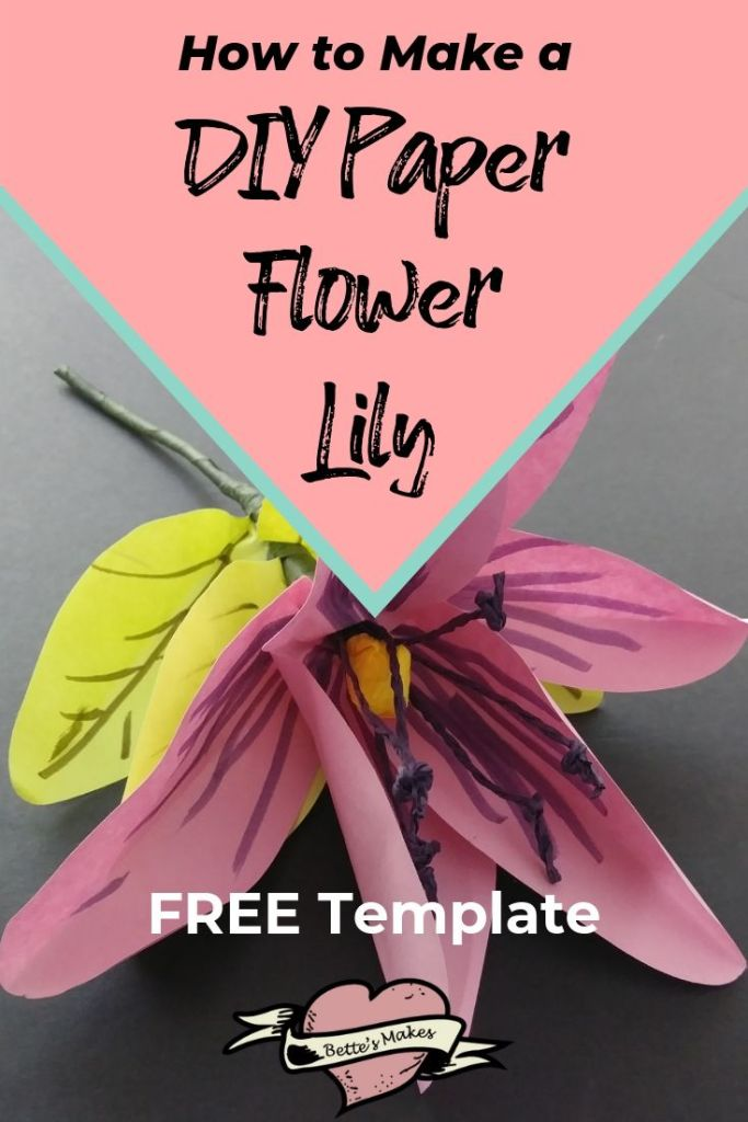 How to Make a DIY Paper Flower Lily