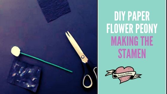 DIY Paper Flower Peony - making the stamen - BettesMakes