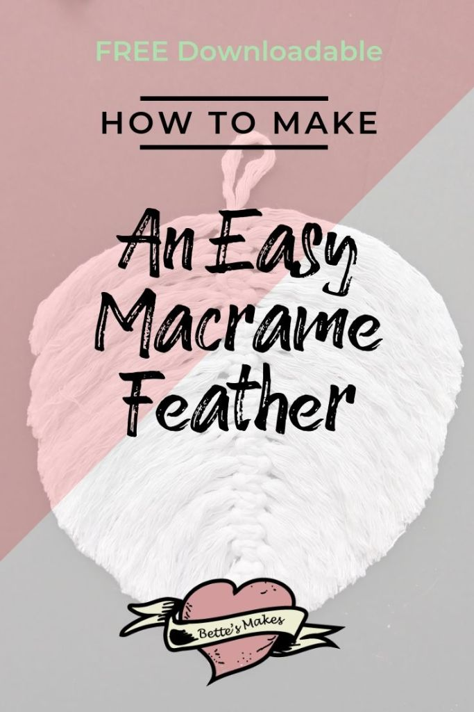 How to Make an Easy Macrame Feather