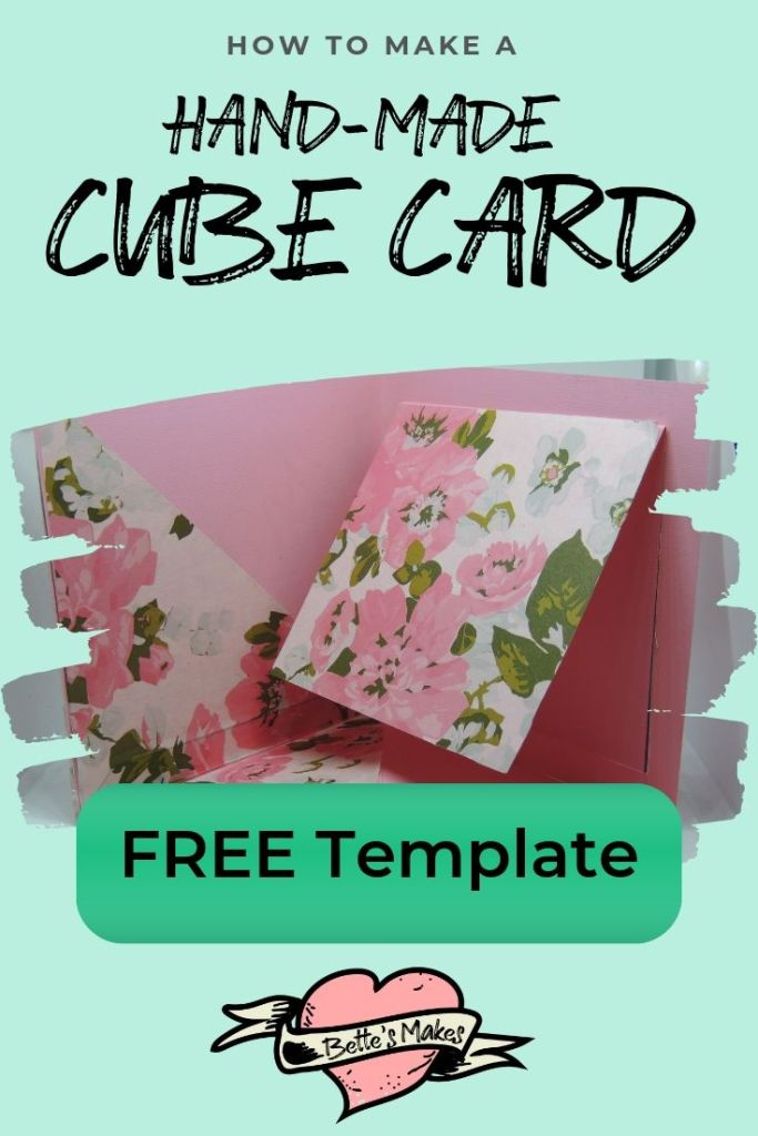 Handmade card tutorial with free printable - BettesMakes.com