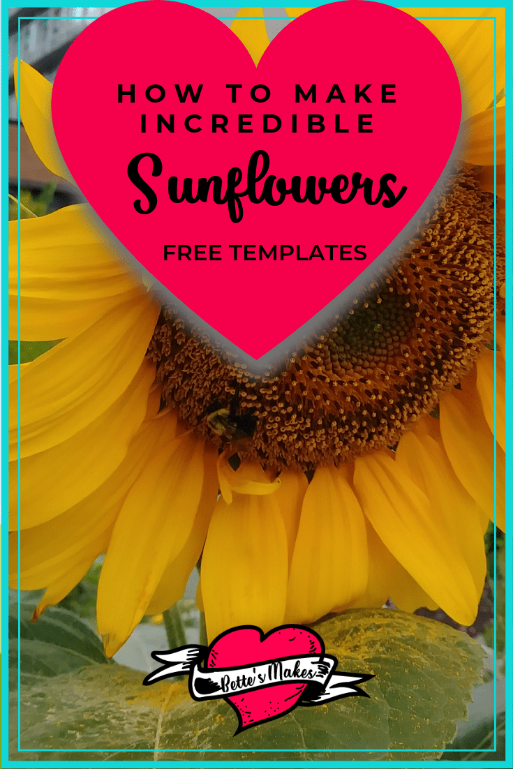 How to Make incredible Sunflowers - these sunflowers are so gorgeous and easy to make. The tutorial is easy to follow and perfect for any DIY Paper Flower Project. Just imagine these sunflowers as part of your DIY Home Decor. BettesMakes.com
