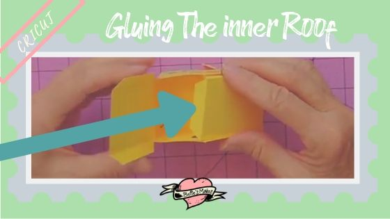 Simple Paper House - Gluing the Inner Roof - BettesMakes.com
