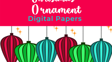 FREE Christmas Ornament Digital Papers - Check back often as new papers are added right up until the week before Christmas Great for print and cut on your Cricut! #Cricut #digitalpaper #Christmas