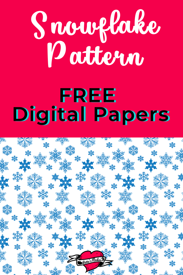 Snowflakes! FREE download - get Blue and White Flakes! - use these digital papers in all your winter crafts! FREE to use in any manner you wish! the first in a series of FREE digital downloads from BettesMakes.com #papercraft #digitalpaper #cricut