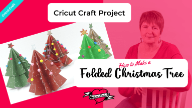 Make your own decorative Christmas Trees with this simple design and template! The tutorial and templates are absolutely FREE - just check out https://bettesmakes.com/library #cricut #cricutmaker #cricutexploreair2 #cricutidea #papercraft