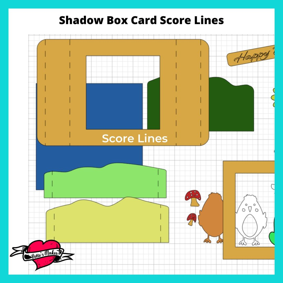 Shadow Box Card Score Lines