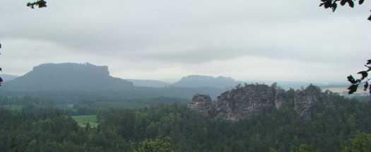 Blick auf Sächische Schweiz