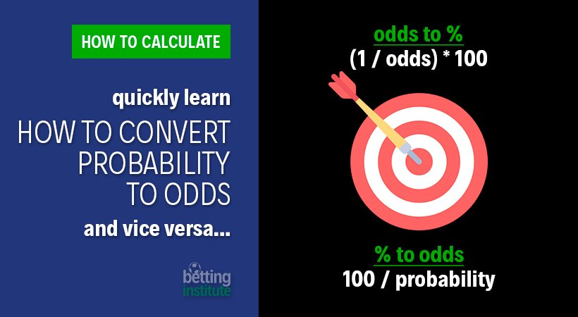 How To Convert Probability To Odds and vice versa