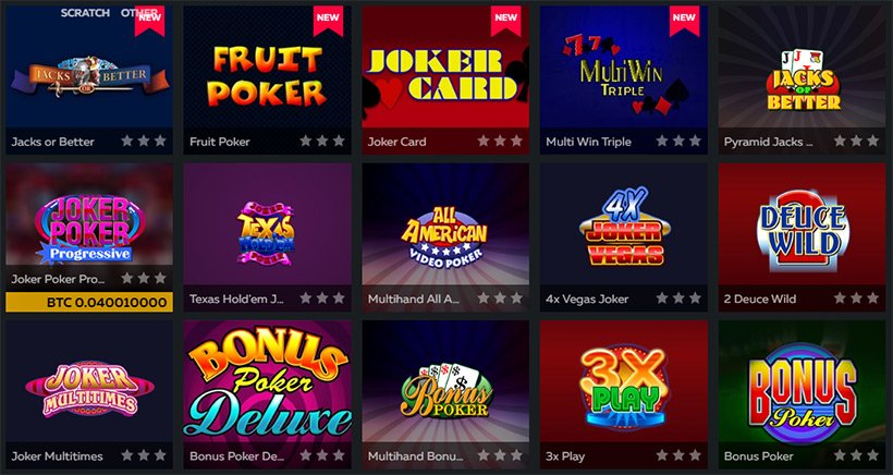 Fortune Jack Video Poker