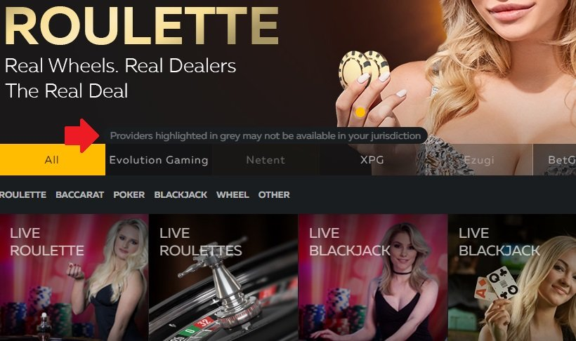 Fortune Jack Casino Games Providers Restrictions UK USA
