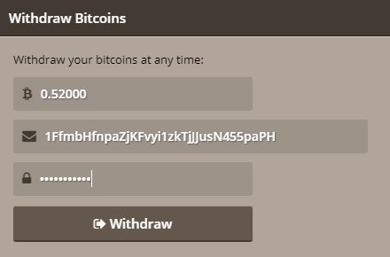 Withdraw funds from Bitcoin bookies