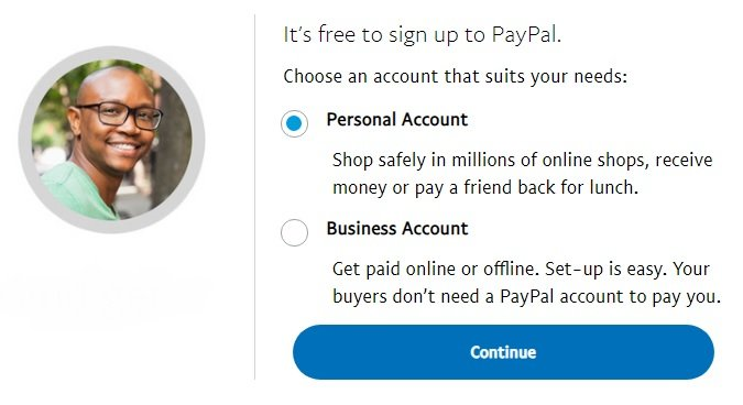 PayPal Open New Account