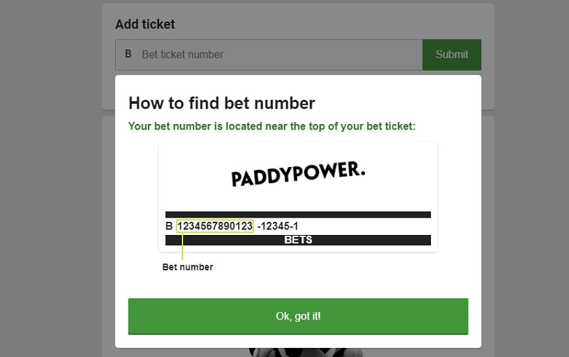 Paddy Power Track My Bet