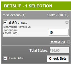 Betting Promotion Codes help - bet slip example