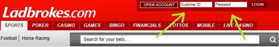Betting Promotion Codes help - login screen