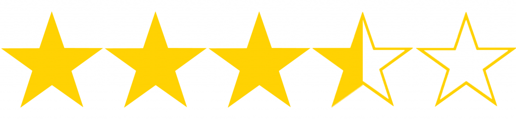 Resultado de imagen para 3.5 stars out of 5