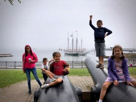 Bar Harbor in the mist