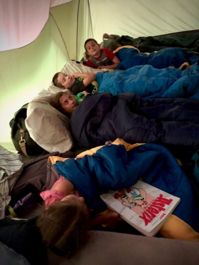 Cozy in the tent