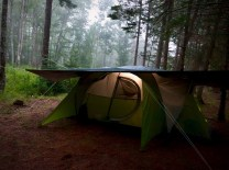 Tent in the mist