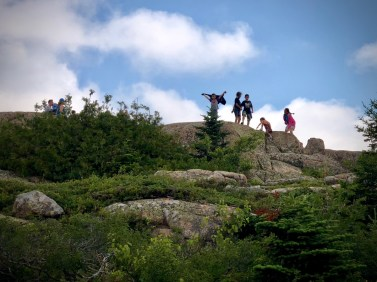 Clambering on Cadillac Mountain