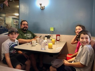 At the Lincoln Diner for our farewell breakfast
