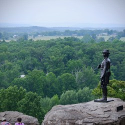 Gen. Gouverneur Warren who saw the Confederate approaching the undefended Little Round Top