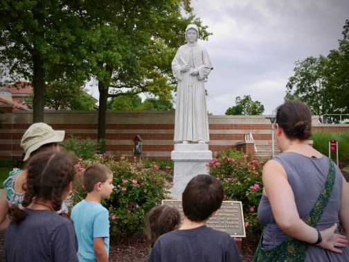 Outside the National Shrine of St. Elizabeth Ann Seton