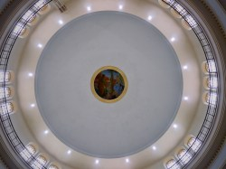 The dome of the National Shrine of St. Elizabeth Ann Seton