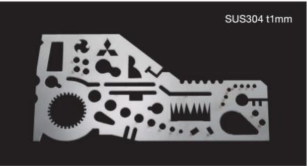 Esempio di pezzo con spessore sottile lavorato con macchina laser Mitsubishi eX-series