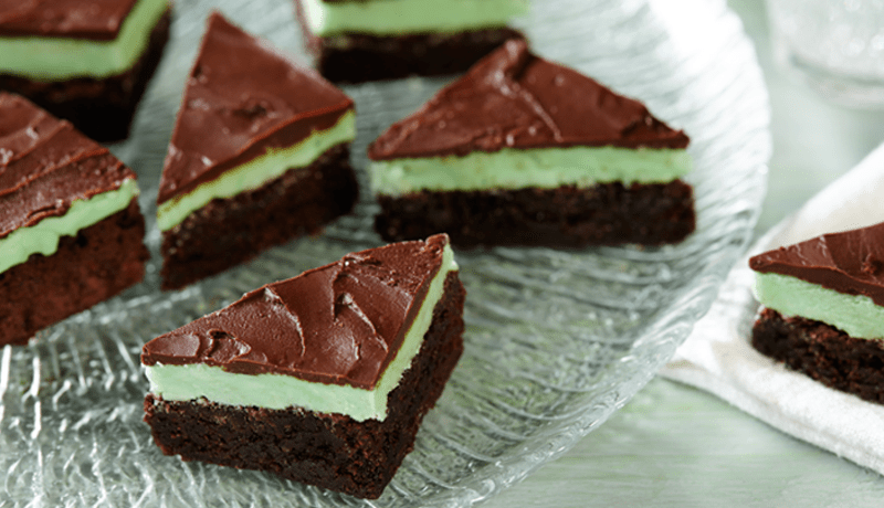 Chocolate Mint Triangle Brownies Easy Recipes Betty