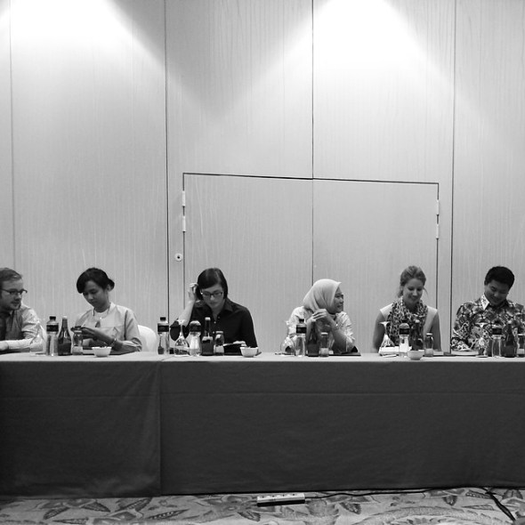 Some of my fellow delegates of #causindy in action.