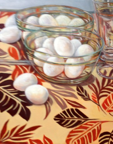 """""""Egg Reflections,"""" Oil on Canvas, 16""""x20"""""""