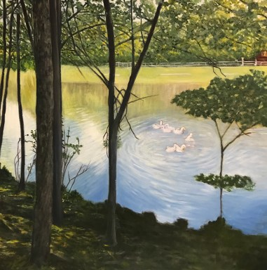 """Reflections in the Lake,"" Oil on Canvas, 24""x24"""