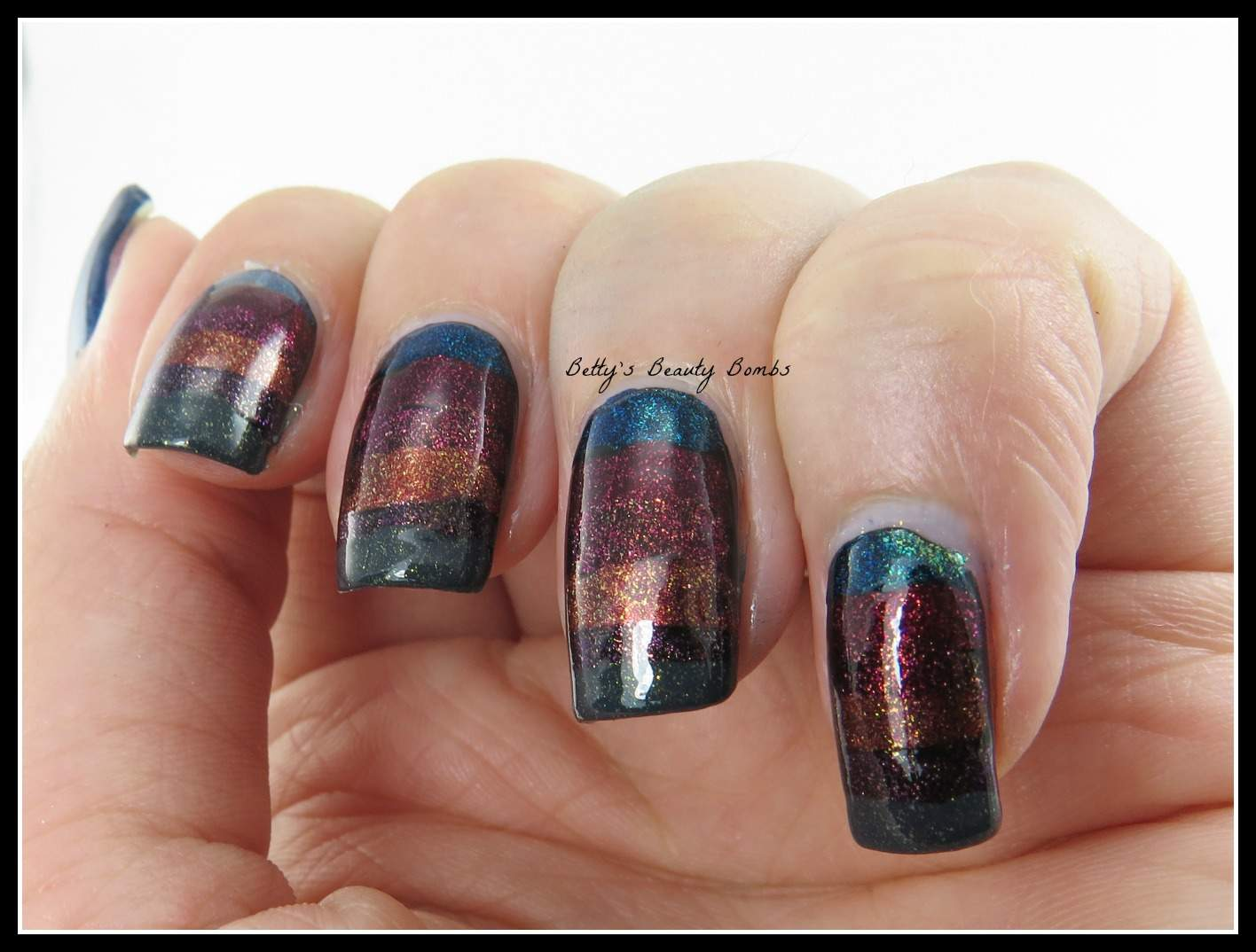 Zoya ignite striped nail art lazy betty striped nail art prinsesfo Image collections
