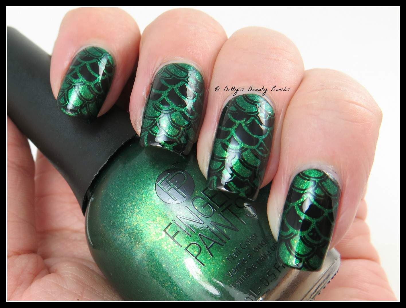 Dragon Scales Nail Art - Dragon Scales Nail Art - Lazy Betty
