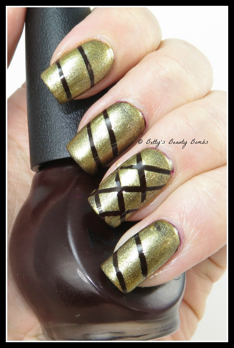 Purple and gold striping tape nail art lazy betty fall striping tape prinsesfo Gallery