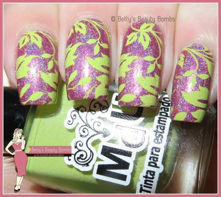 pink-and-green-nail-art