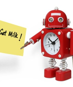 Robot Alarm Clock red