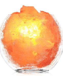 crackle glass salt lamp