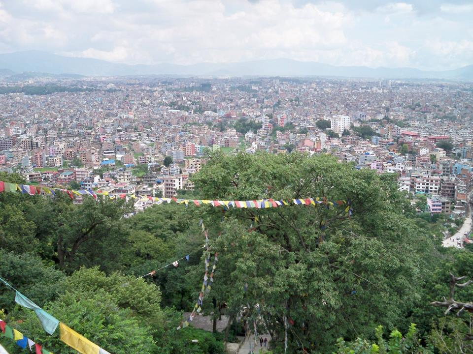 View katmandhu valley