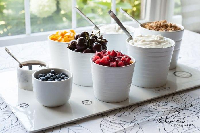 How to make a yogur bar using a cheese board