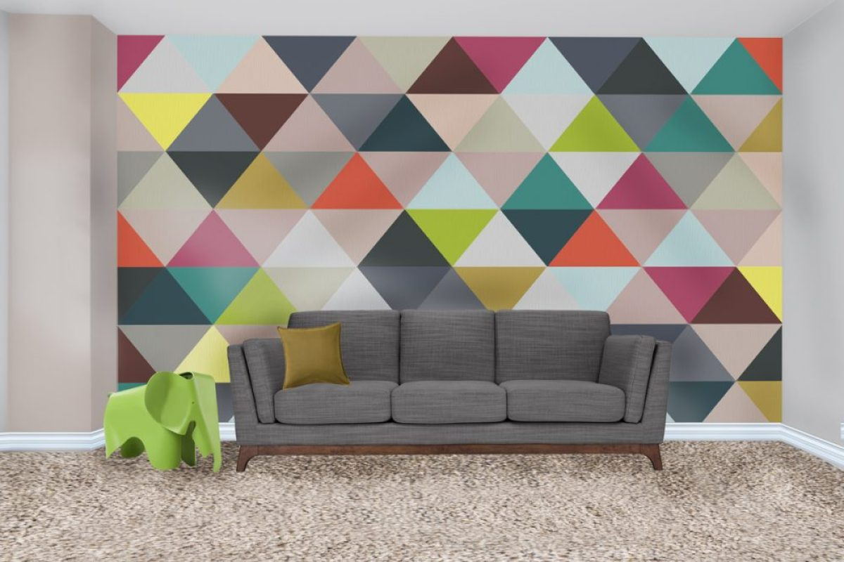 how to paint a triangle wall