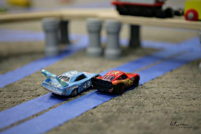 DIY Train Tracks. Best Boy's Tape Car Tracks. Stuck Indoors? The Best Boys' Activity for a Rainy Day on between carpools