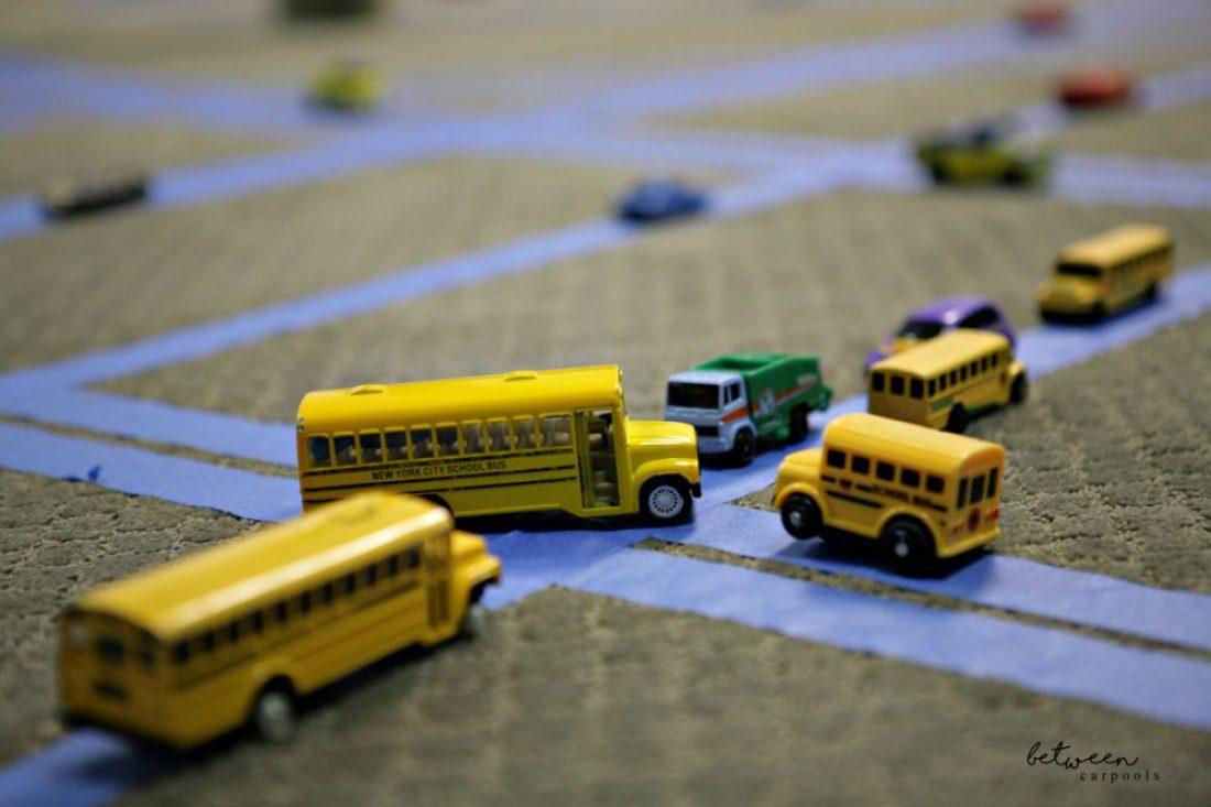 DIY Train Tracks. Best Boy's Tape Car Tracks. Stuck Indoors? The Best Boys' Activity for a Rainy Day