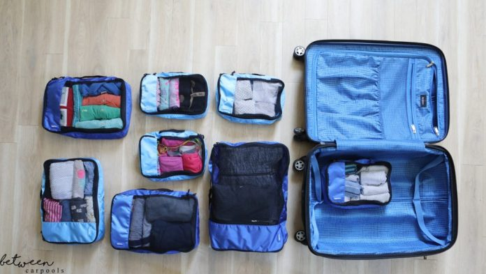Traveliing? Packing cubes to the rescue! These cubes are the best. No need to pack and unpack, just leave them in and pack them back up,