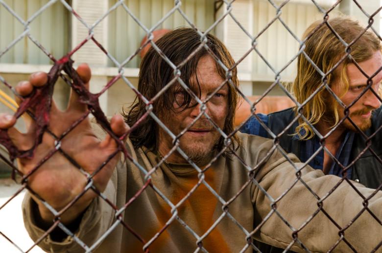 Austin Amelio as Dwight, Norman Reedus as Daryl Dixon- The Walking Dead _ Season 7, Episode 3 - Photo Credit: Gene Page/AMC