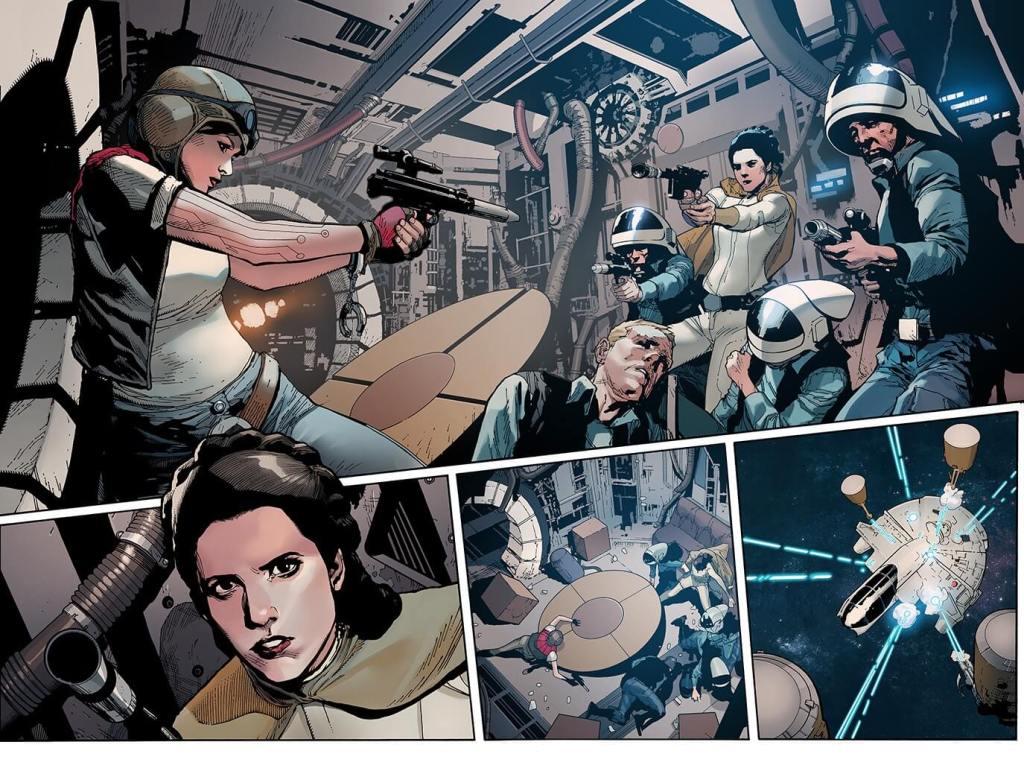 Marvel Comics Star Wars issue 16 interior art