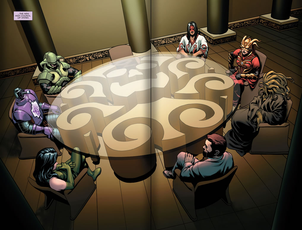 Captain America #14 - The NEW High Council of Hydra
