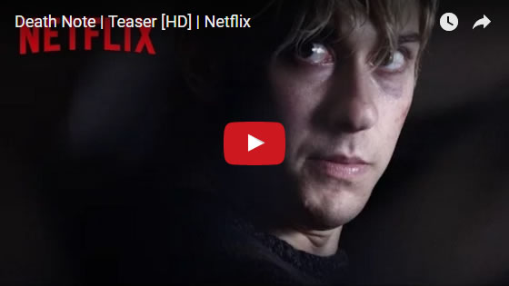Death Note trailer. Coming to Netflix on August 25th, 2017