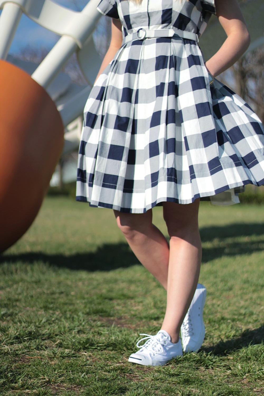 gingham dress spring style